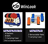 JP WinLook Ping Pong Net - 2 Pack; Retractable