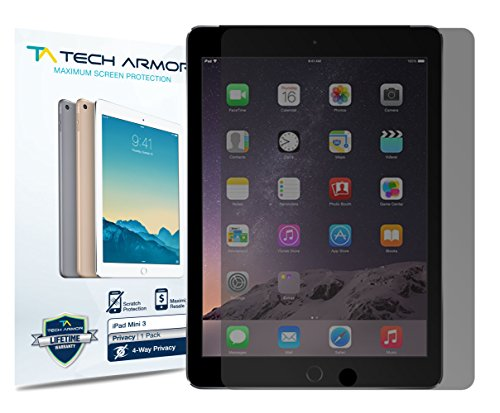 iPad Mini 4 Privacy Screen Protector, Tech Armor 4Way 360 Degree Privacy Apple iPad Mini 4 Film Screen Protector [1-Pack] (4 Way Screen)