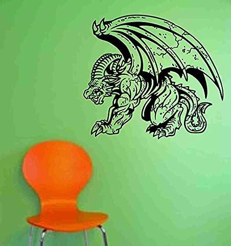 Gargoyle Version 103 Decal Sticker Wall Art Graphic Dragons Cartoon Mural Art Graphic Dragon Kid Boy Room (Gargoyle Sticker)