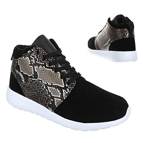 Ital-Design - Zapatillas de Material Sintético para hombre Negro - negro