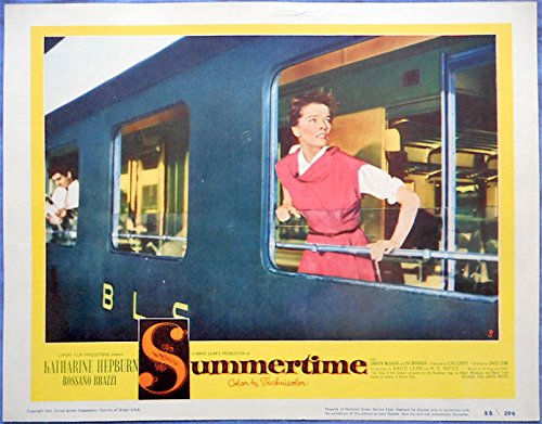 SUMMERTIME LC #3 Katharine Hepburn Arrives in Venice Ready for Romance!