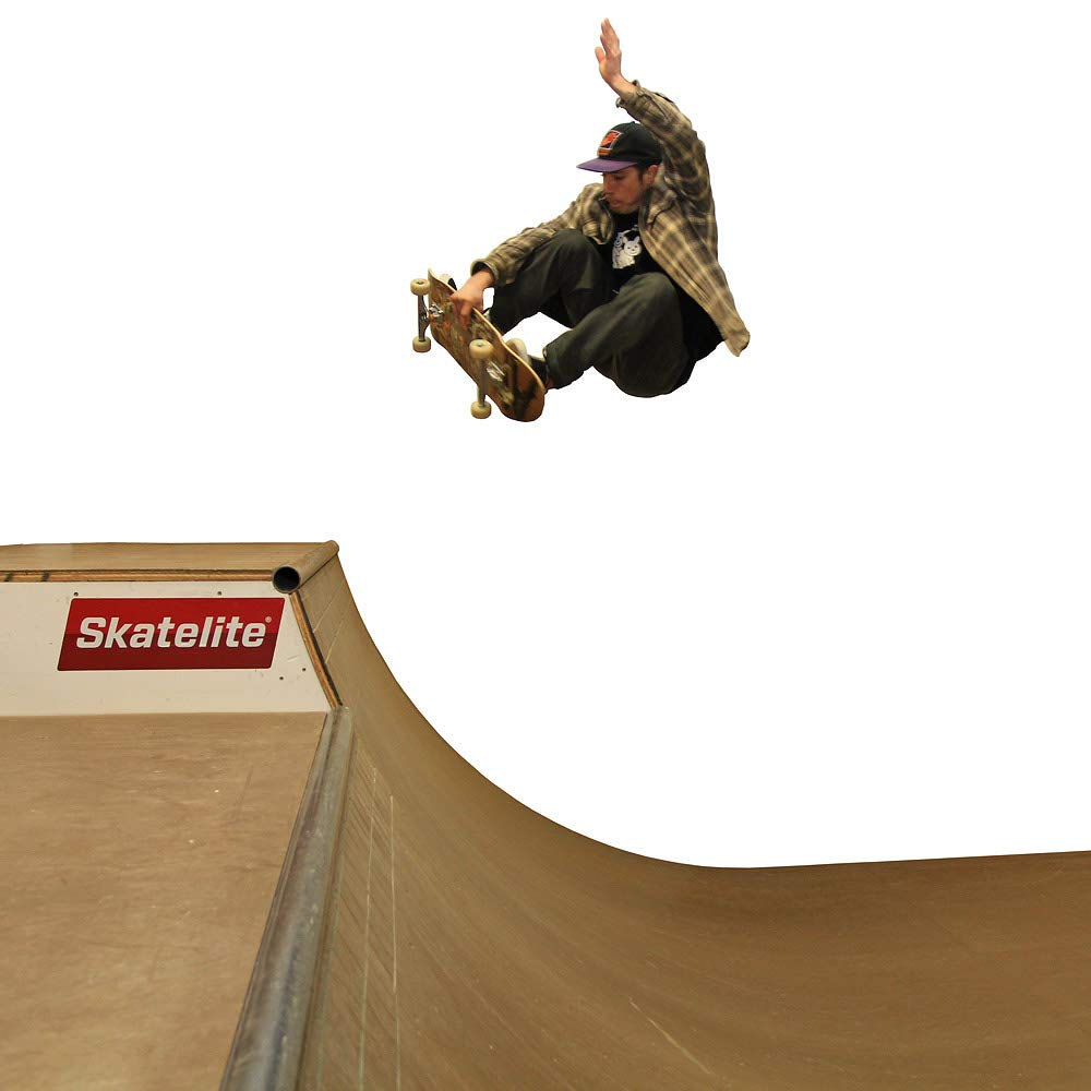 Skate Board Ramp >> Amazon Com Traceable 4 Foot Tall Halfpipe Skateboard Ramp Template
