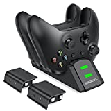 Cheap BEBONCOOL Xbox One Controller Dual Charger, Dual Xbox One / One S / One X / Xbox Elite Controller Charger Charging Station Dock with 2 x 600 mAh Rechargeable Battery Packs
