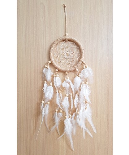 APECTO Handmade Traditional Dream Catcher Circular Net with Feathers Wall Hanging Decor Ornament Craft 5.2