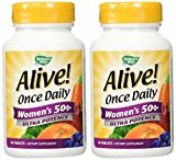 Nature's Way Alive! Once Daily Women's 50+ Multivitamin, Ultra Potency, 60 Tablets, Pack of 2