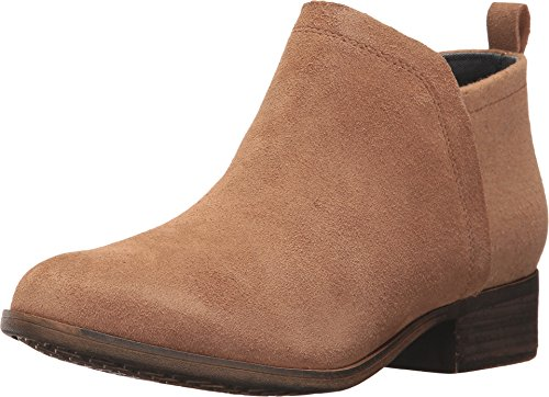 TOMS Women's Deia Bootie Toffee Suede/Wool 7 B US B (M) (Thick High Heels Platform Ankle Boots Shoes)