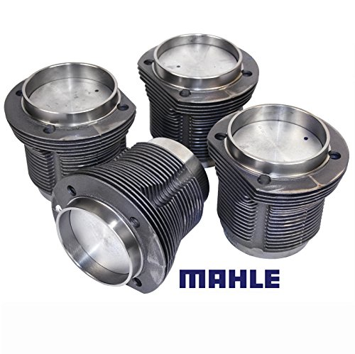 (VW Air Cooled 1600cc Mahle Forged Pistons & Cylinders, 85.5MM x 69MM, Set Of 4)