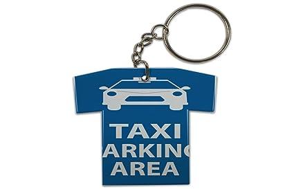 Llavero Nostalgic Retro Coche Taxi Parking Jersey impreso ...