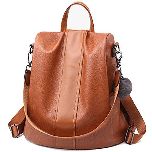 - Backpack Purse Women Ladies Rucksack Shoulder Bag Lightweight School bag Travel Daypack (Brown)