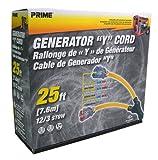 Prime GCT20825 25-foot Generator Y Cord