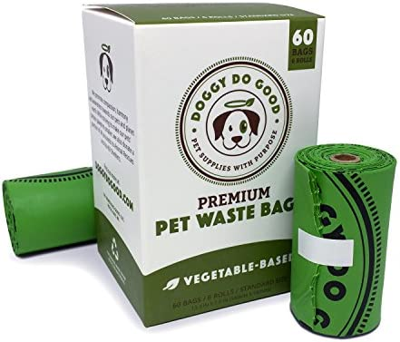 Biodegradable Dog Poop Bags | Compostable Dog Waste Bags | 100% Plastic Free, Unscented, Vegetable-Based & Eco-Friendly, Thick & Leak Proof, Easy Detach & Open | Sizes Small, Standard & XL