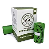 Biodegradable Poop Bags | Dog Waste Bags, Unscented, Vegetable-Based & Eco-Friendly, Premium Thickness & Leak Proof, Easy Detach & Open, Supports Rescues (1-Box (60 ct))