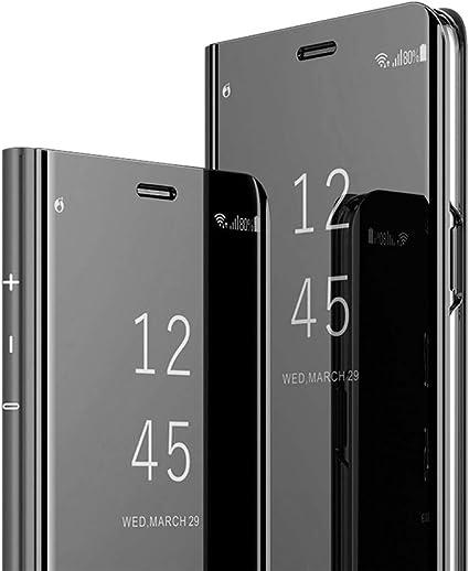MRSTER iPhone 7 Plus Cover, Mirror Clear View Standing Cover Full Body Protettiva Specchio Flip Custodia per Apple iPhone 7 Plus / 8 Plus. Flip ...