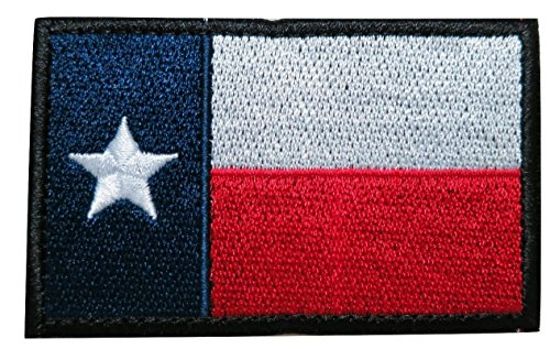 - TrendyLuz Texas Texan State Flag Embroidered Hook & Loop Patch