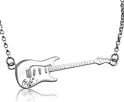 De plata de ley de Fender Stratocaster miniatura de la guitarra ...