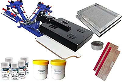 3 Color 1 Station Screen Press Kit a with Flash Dryer