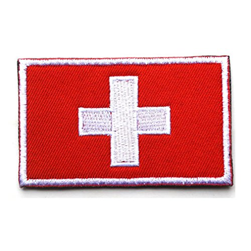 Switzerland Flag Patch Embroidered Military Tactical Flag Patches