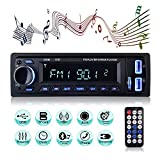 Bluetooth Car Stereo, MEKUULA Car Radio Stereo Video FM Radio 4x60W Station, 1 DIN Car Radio Audio USB/SD / MP3 Player Bluetooth Receiver Handsfree with Remote Control