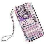 LOVESHE Women wallet HalfGear Bohemian wristlet Clutch wallets(HalfGear)