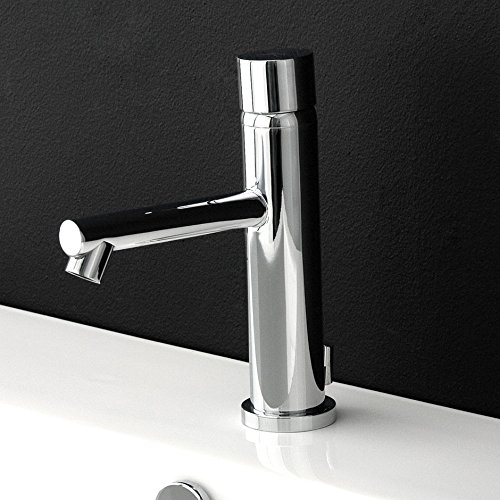Deck-mount single-hole faucet with pop-up, no lever, 5