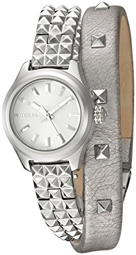 Diesel Ladies DZ5527 Kray Kray Double Wrap Silver Watch