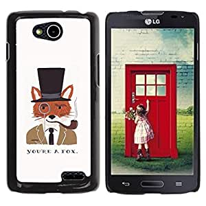 iKiki Tech / Estuche rígido - A Fox Clever Gentleman Drawing - LG OPTIMUS L90 / D415