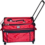 TUTTO Machine On Wheels Case, 27''X16.25''X14'' Red