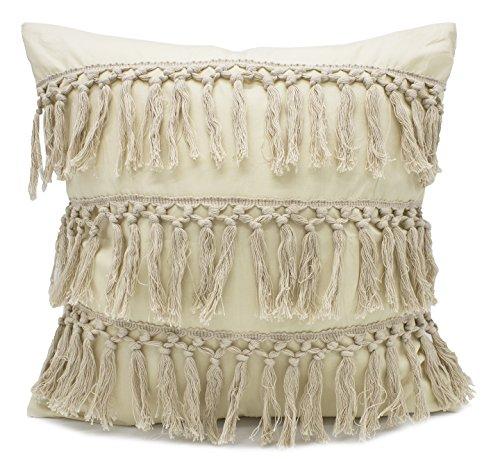 Fennco Styles Stylish Fringe Tassels Decorative Cotton Throw