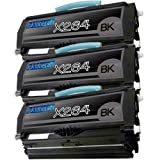 3 New Remanufactured X264 Lexmark X264 X363 X364 X264H21G Toner Cartridge, Office Central