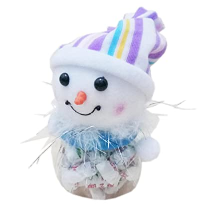 kaicran Navidad Candy botella de Papá Noel Muñeco de nieve Navidad Candy Embalaje Navidad Candy Jar