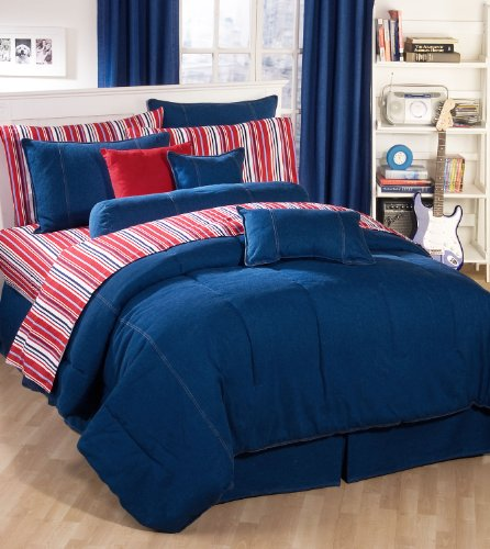Kimlor Denim Daybed Comforter Set 5 Piece