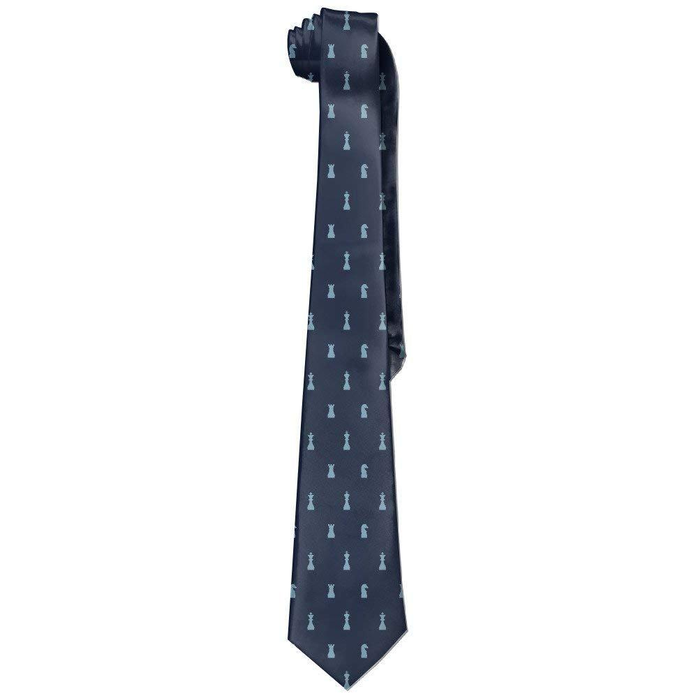 Chess Necktie Skinny Ties Mouthdodo 6288415798994