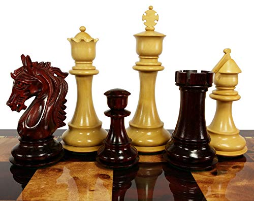 Double Queen Chess - HPL Blood Rosewood Stallion Knight 4 3/4 Inch King Double Queens Large Staunton Chess Men Set - NO Board or Storage