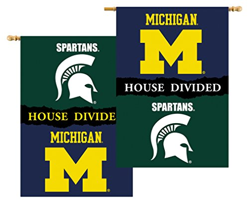 Pole Sleeve House - NCAA 2-Sided 28-by-40 inch House Banner with Pole Sleeve