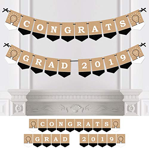 Big Dot of Happiness Bright Future - Graduation Party Bunting Banner - Grad Party Decorations - Congrats Grad 2019 ()