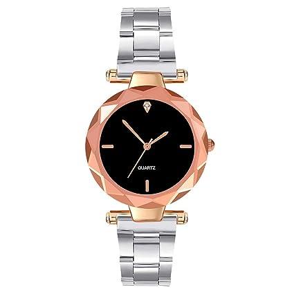 2937b19f8 Leewa Women's Watch Quartz Small Exquisite Watches Round Diamond Analog  Alloy Dial Simple Wrist Watch Adjustable