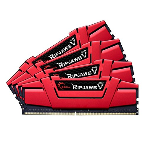 G.SKILL 32GB (4 x 8GB) Ripjaws V Series DDR4 PC4-19200 2400MHz Intel Z170 Desktop Memory Model F4-2400C15Q-32GVR