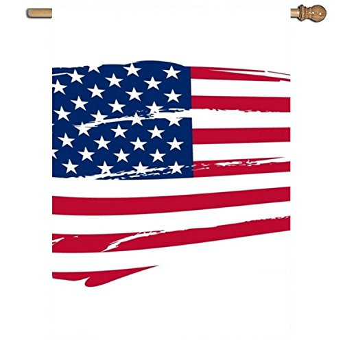 Linhong Clipart American Flag Garden Printed Flag One Sided Home Flag Weather Resistant Durable-27 x 37 Inches