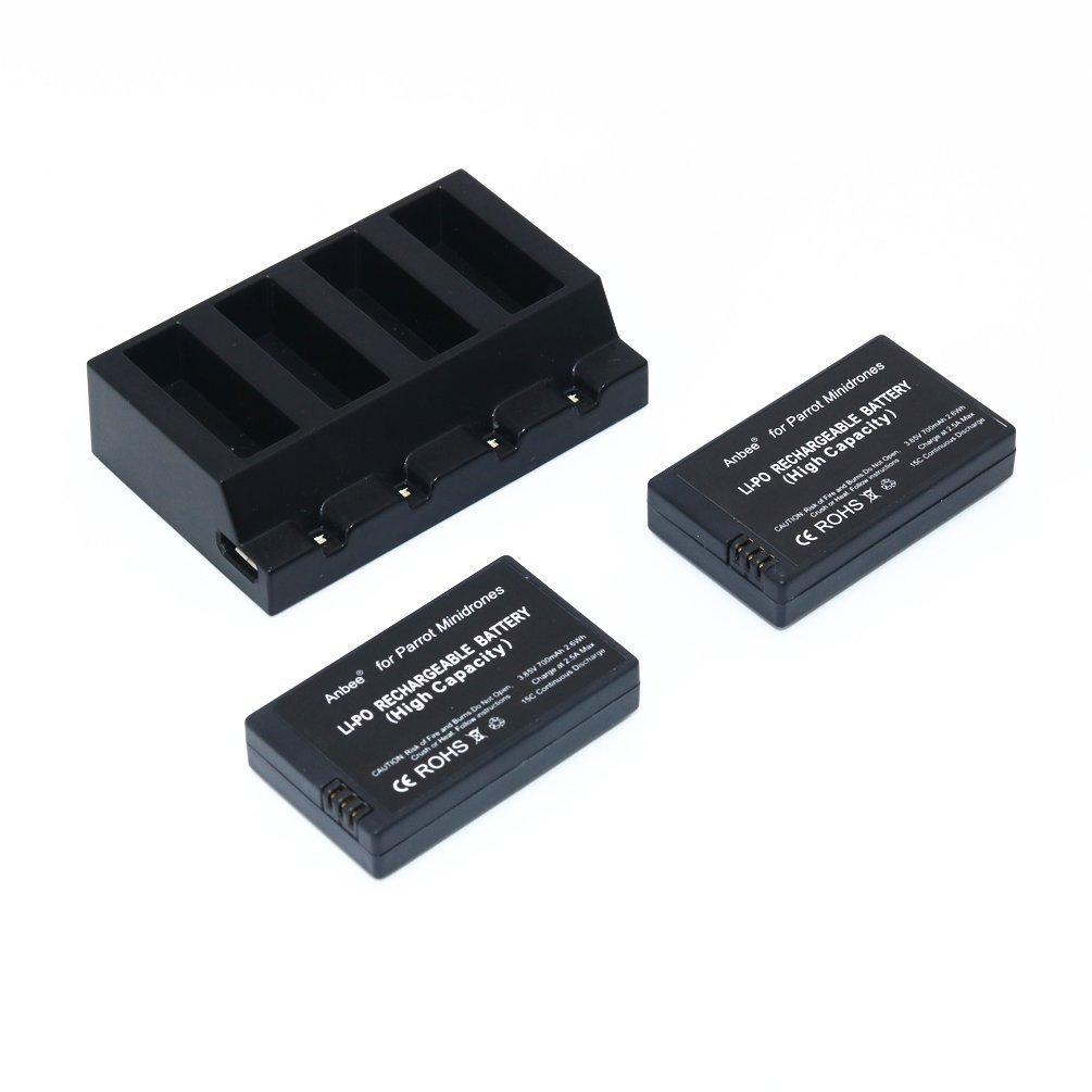 Baterias LIPO (2) y Cargador 3.7V 700mah RC RANTOW