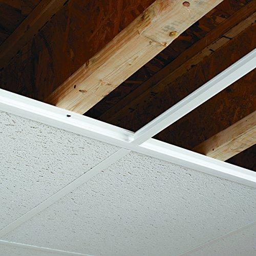 Ceilingmax 100 sq. ft. Ceiling Grid Kit White