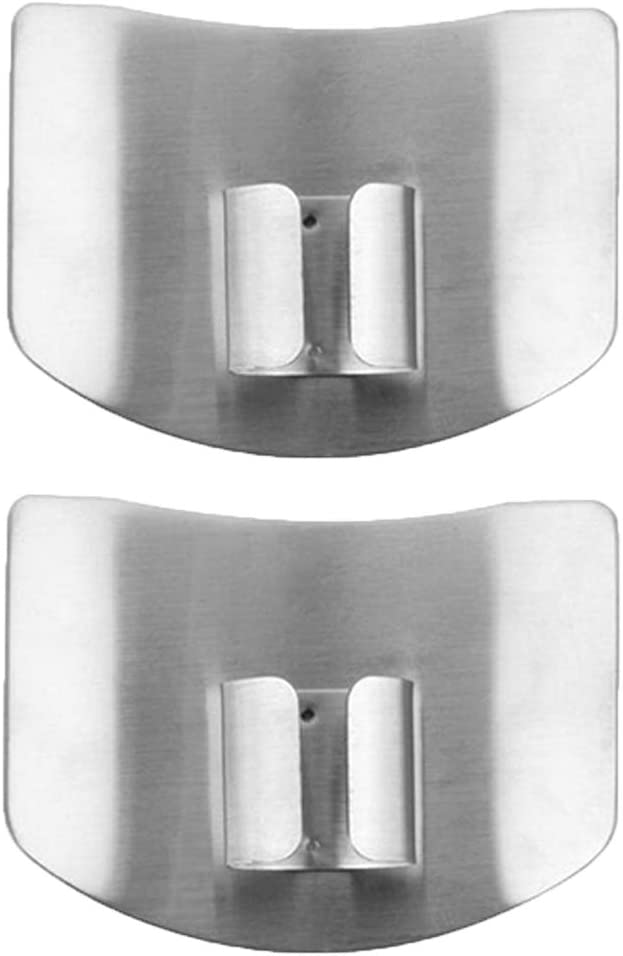 ZOCONE 2 PCs Finger Guard For Cutting Kitchen Tool Finger Guard Stainless Steel Finger Protector Avoid Hurting When Slicing and Dicing Kitchen Safe Chop Cut Tool (PH0088): Kitchen & Dining
