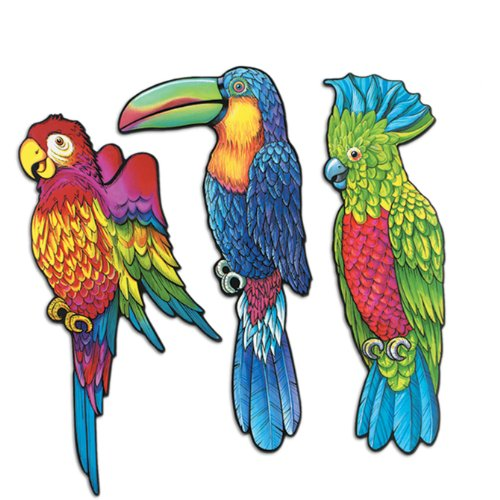 Exotic Bird Cutouts Party Accessory (1 count)