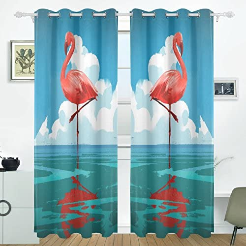 JSTEL - Cortinas de flamenco para el mar, paneles de cortinas ...