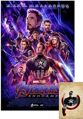 Avengers End Game  Movie Collectors Re-Release Poster Print heavy hp photo paper