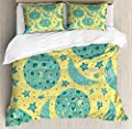 Hedda Clare Duvet Cover SetGrunge Style Moon Phases Duvet Cover SetCustom Design 3 PC Duvet Cover Set Queen/Full