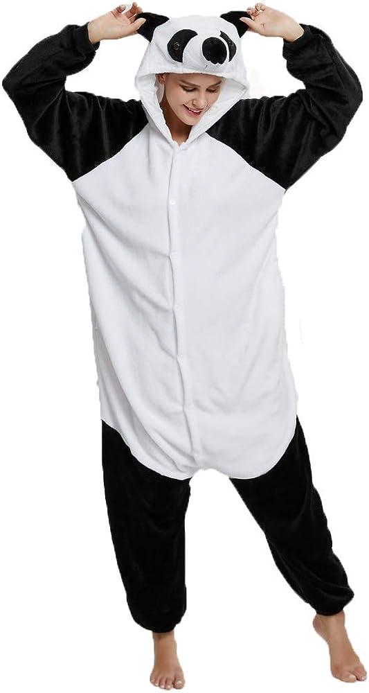 Plush One Piece Costume Animal Onesie Panda Pajamas