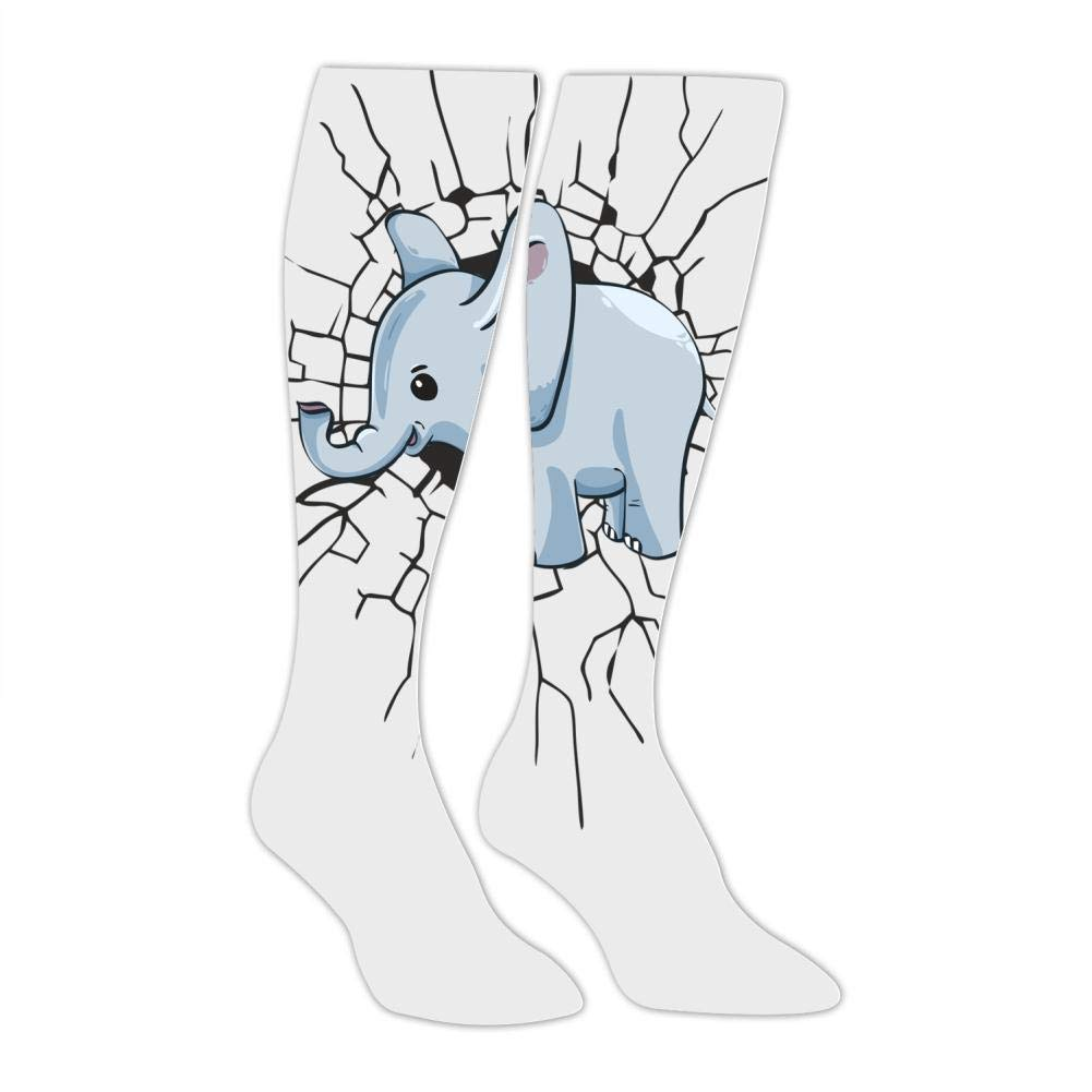 Mens Cute Little Elephant Socks Sports Leisure Fashion and Interesting Socks