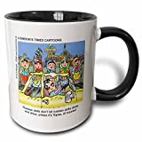 3dRose Londons Times Funny Russian and Armenian Cartoons - Matryoshkas And Topaz - 11oz Two-Tone Black Mug (mug_2832_4)