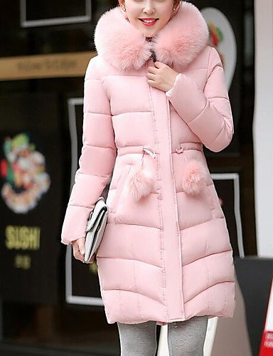 Others Cute Long Daily Solid Going Simple Sleeves Polypropylene Chic 3XL Long Blushing Casual Pink Out Street Padded Coat ZHUDJ Women'S w4X5xqWRO