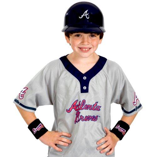 Franklin Sports MLB Atlanta Braves Youth Team Uniform Set (Boys Baseball Costumes)